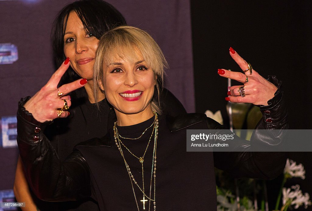 <a gi-track='captionPersonalityLinkClicked' href=/galleries/search?phrase=Noomi+Rapace&family=editorial&specificpeople=4522889 ng-click='$event.stopPropagation()'>Noomi Rapace</a> and singer Titiyo Jah attends the Stockholm premiere of 'Robocop' at Rigoletto on February 6, 2014 in Stockholm, Sweden.