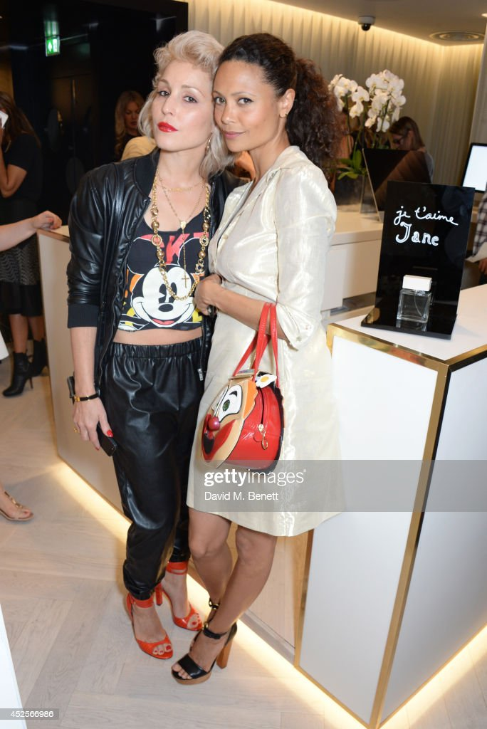 Noomi Rapace and Thandie Newton attend the launch of the Bella Freud Parfum frangrance at Harvey Nichols on July 23 2014 in London England