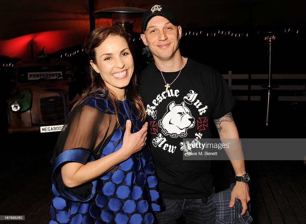 Noomi Rapace (L) and Tom Hardy attend Gabrielle's Gala 2013 supported by Lorraine Schwartz at Battersea Power Station on May 2, 2013 in London, England.