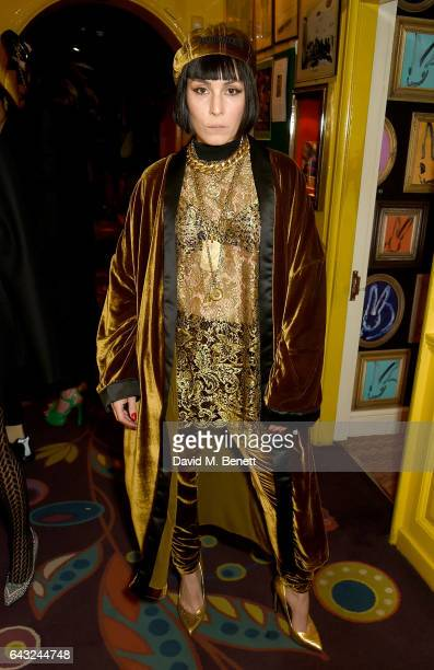 Noomi Rapace at the LOVE and Burberry London Fashion Week Party at Annabel's celebrating Katie Grand and Kendall Jenner's #LOVEME17 on February 20...