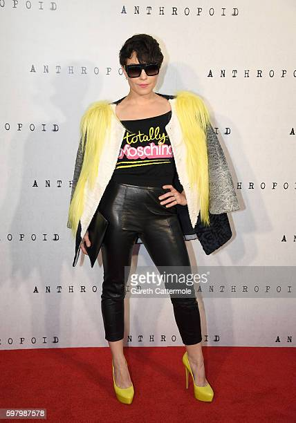 Noomi Rapace attends the 'Anthropoid' UK film premiere at the BFI Southbank on August 30 2016 in London England