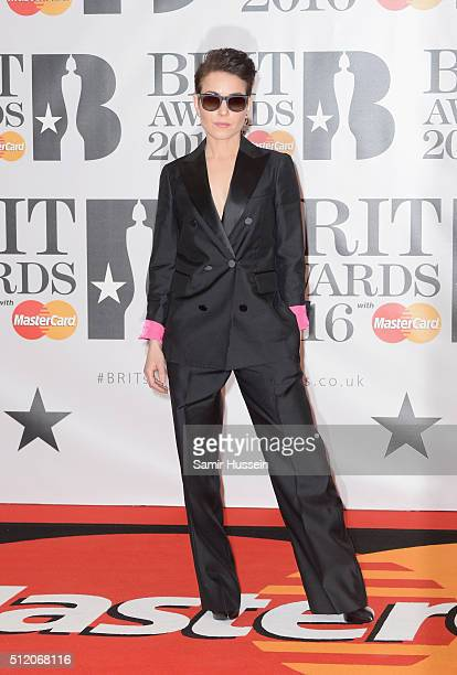 Noomi Rapace attends the BRIT Awards 2016 at The O2 Arena on February 24 2016 in London England
