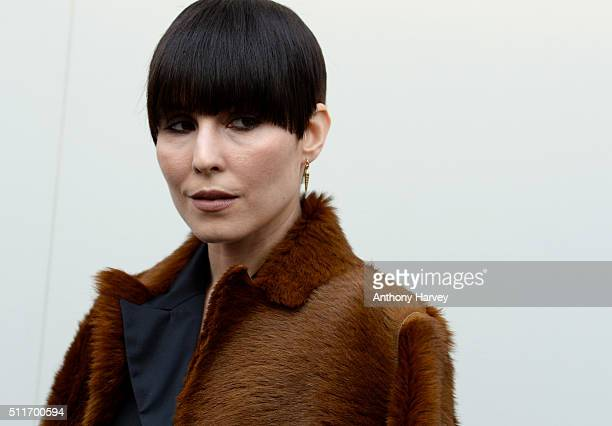 Noomi Rapace attends the Burberry show during London Fashion Week Autumn/Winter 2016/17 at Kensington Gardens on February 22 2016 in London England