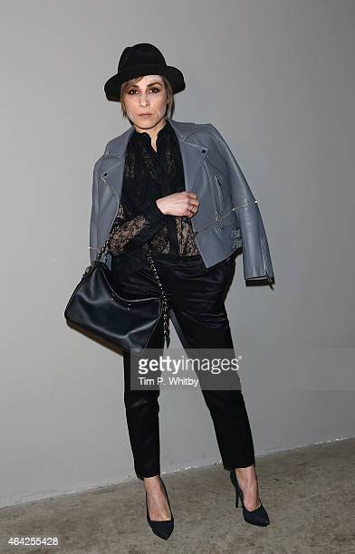Noomi Rapace attends the Christopher Kane show during London Fashion Week Fall/Winter 2015/16 at Tate Modern on February 23 2015 in London England