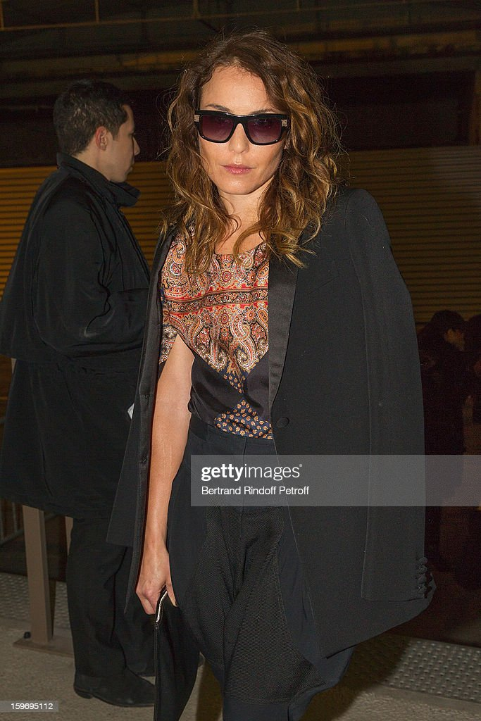 <a gi-track='captionPersonalityLinkClicked' href=/galleries/search?phrase=Noomi+Rapace&family=editorial&specificpeople=4522889 ng-click='$event.stopPropagation()'>Noomi Rapace</a> attends the Givenchy Men Autumn / Winter 2013 show as part of Paris Fashion Week on January 18, 2013 in Paris, France.