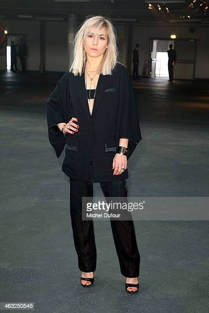 Noomi Rapace attends the Givenchy Menswear Fall/Winter 20142015 Show as part of Paris Fashion Week on January 17 2014 in Paris France