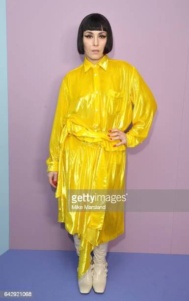 Noomi Rapace attends the Mulberry show during the London Fashion Week February 2017 collections on February 19 2017 in London England