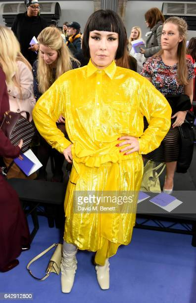 Noomi Rapace attends the Mulberry Winter '17 LFW show at The Old Billingsgate on February 19 2017 in London England