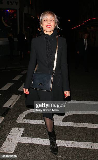 Noomi Rapace attends the Next Model Management AW14 party at the Ivy restaurant during London Fashion Week on February 15 2014 in London England