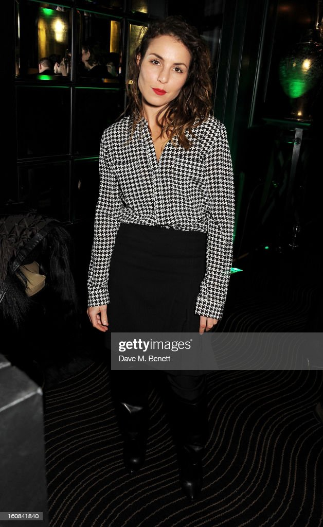 <a gi-track='captionPersonalityLinkClicked' href=/galleries/search?phrase=Noomi+Rapace&family=editorial&specificpeople=4522889 ng-click='$event.stopPropagation()'>Noomi Rapace</a> attends the Pre-BAFTA Party hosted by EE and Esquire ahead of the 2013 EE British Academy Film Awards at The Savoy Hotel on February 6, 2013 in London, England.