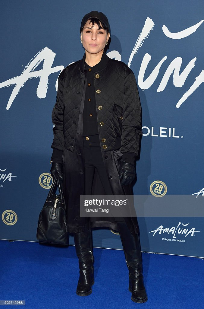 Noomi Rapace attends the Red Carpet arrivals for Cirque Du Soleil Amaluna at Royal Albert Hall on January 19, 2016 in London, England.