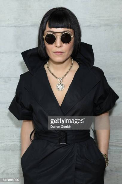 Noomi Rapace attends the Roland Mouret show during the London Fashion Week February 2017 collections on February 19 2017 in London England