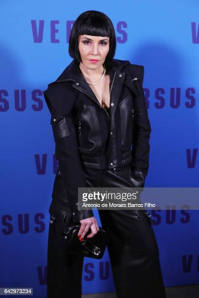 Noomi Rapace attends the VERSUS show during the London Fashion Week February 2017 collections on February 18 2017 in London England