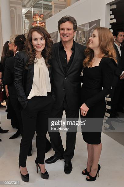 Noomi Rapace Colin Firth and Amy Adams attend BAFTA nomination lunch hosted by Momentum Pictures at Corinthia Hotel London on February 12 2011 in...