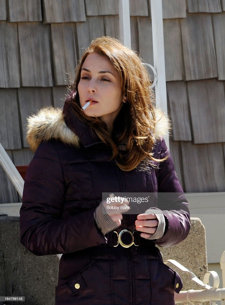 Noomi Rapace filming on location for 'Animal Rescue' on March 27, 2013 in the Brooklyn borough of New York City.