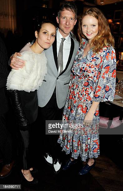 Noomi Rapace Jefferson Hack and Lily Cole attend the London EDITION and NOWNESS dinner to celebrate ON COLLABORATION on October 14 2013 in London...