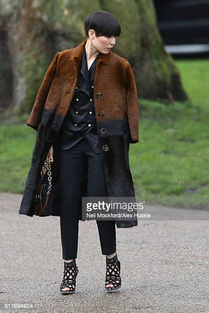 Noomi Rapace seen at Burberry AW16 on February 22 2016 in London England