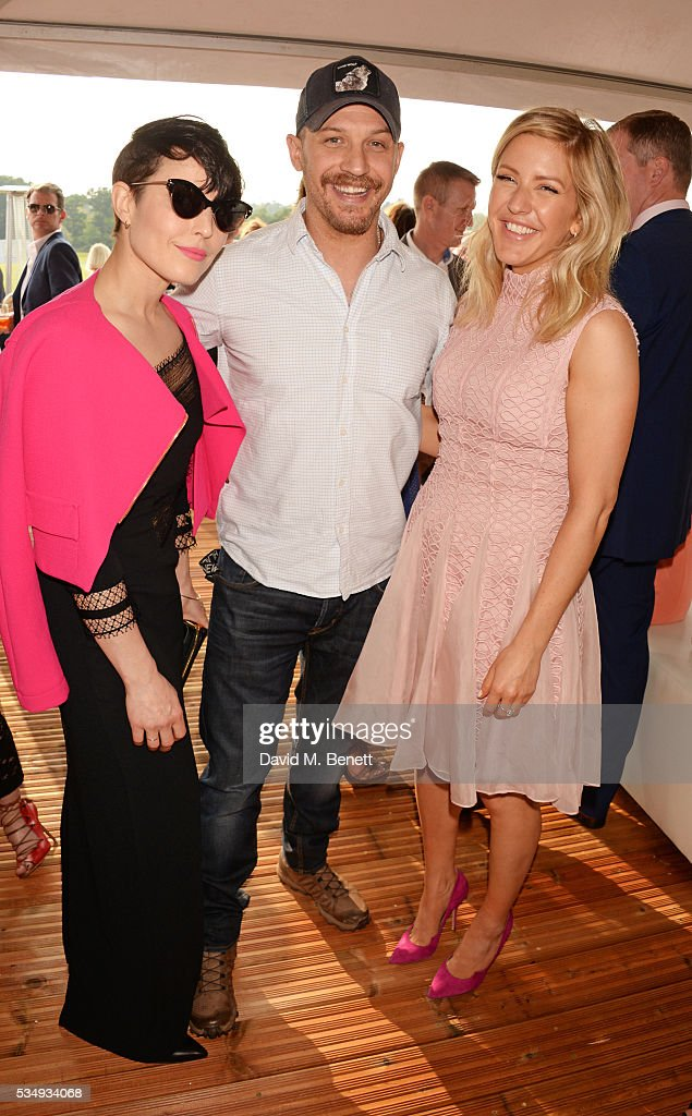 <a gi-track='captionPersonalityLinkClicked' href=/galleries/search?phrase=Noomi+Rapace&family=editorial&specificpeople=4522889 ng-click='$event.stopPropagation()'>Noomi Rapace</a>, <a gi-track='captionPersonalityLinkClicked' href=/galleries/search?phrase=Tom+Hardy+-+Actor&family=editorial&specificpeople=2209780 ng-click='$event.stopPropagation()'>Tom Hardy</a> and <a gi-track='captionPersonalityLinkClicked' href=/galleries/search?phrase=Ellie+Goulding&family=editorial&specificpeople=6389309 ng-click='$event.stopPropagation()'>Ellie Goulding</a> attend day one of the Audi Polo Challenge at Coworth Park on May 28, 2016 in London, England.
