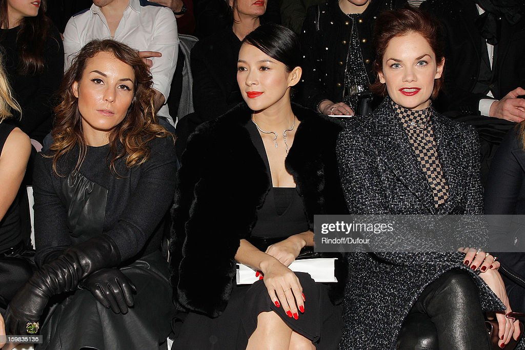 Noomi Rapace, Zhang Ziyi and Ruth Wilson attend the Christian Dior Spring/Summer 2013 Haute-Couture show as part of Paris Fashion Week at on January 21, 2013 in Paris, France.