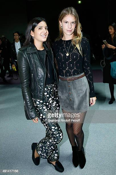 Noor Fares and Eugenie Niarchos attend the Giambattista Valli show as part of the Paris Fashion Week Womenswear Spring/Summer 2016 Held at Grand...