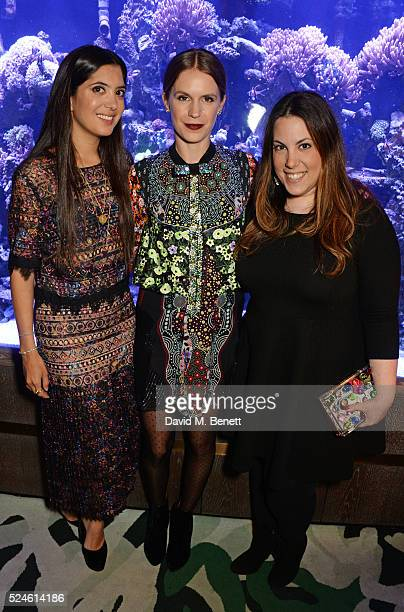 Noor Fares Eugenie Niarchos and Mary Katrantzou attend the launch of the new Venyx Oseanyx collection hosted by Eugenie Niarchos and Lucy Yeomans at...