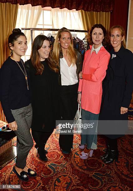 Noor Fares Mary Katranzou Carolina GonzalezBunster Valeria Napoleone and Adriana Chryssicopoulos attend the Mary Katrantzou London Fashion Week lunch...