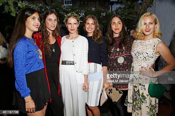 Noor Fares Tatiana Santo Domingo Eugenie Niarchos Dasha Zhukova Dana Alikhani and Charlotte Dellal attend Mazi's Summer Party with guest of honor...