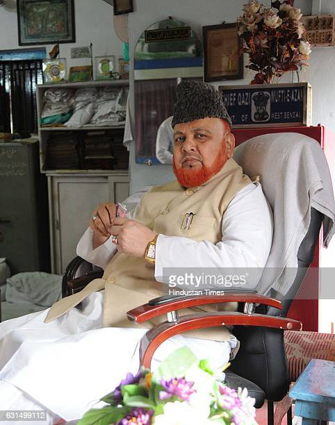 NoorurRahman Barkati Imam of Tipu Sultan Mosque on January 11 2017 in Kolkata India A fatwa by Syed Md Nurur Rahman Barkati against PM Narendra Modi...