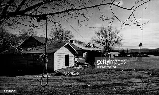 Noose Hangs From A Tree In Wounded Knee Seized Last Tuesday By About 200 Indians During the occupation there were 11 hostages held but they were...
