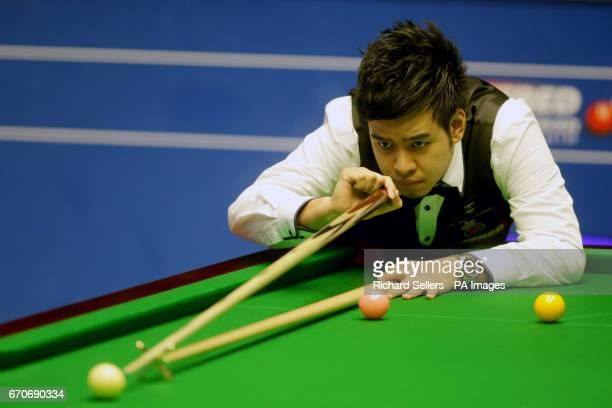 Noppon Saengkham during day six of the Betfred Snooker World Championships at the Crucble Theatre Sheffield