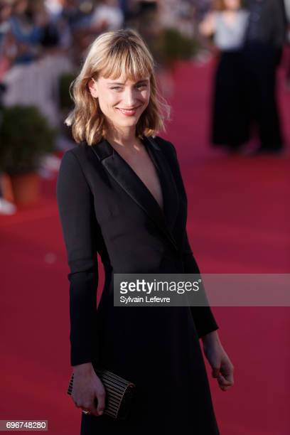 Nora Arnezeder attends red carpet of 3rd day of the 31st Cabourg Film Festival on June 16 2017 in Cabourg France