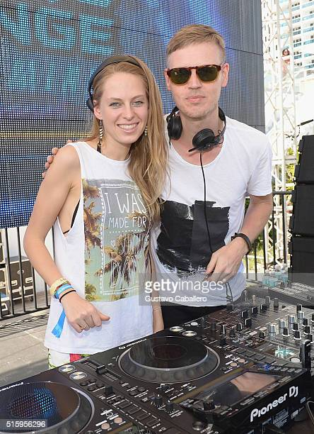 Nora En Pure and Joris Voorn perform onstage at SiriusXM Celebrates 10th Anniversary Of The SiriusXM Music Lounge At 1 Hotel South Beach Leading Up...