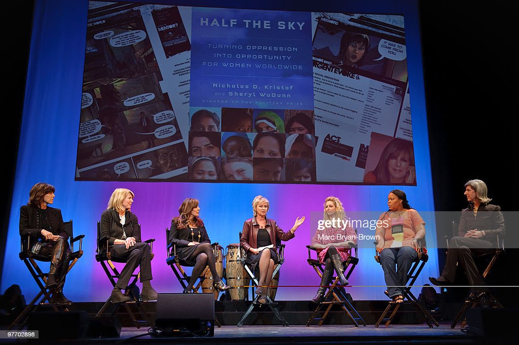 Nora Ephron Susan Lyne Victoria Jackson Tina Brown Jane McGonigal Leymah Gbowee and Lauren Zalaznik attend day 3 of the ''Women In The World Stories...