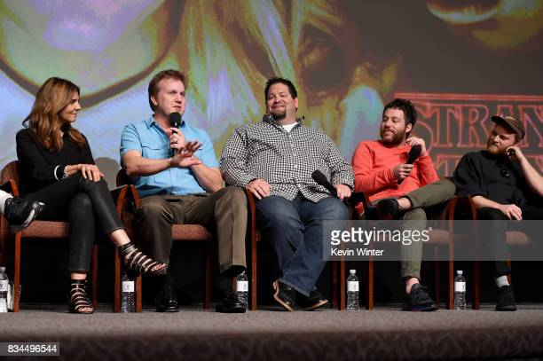 Nora Felder Music Supervisor Kevin Ross Editor Dean Zimmerman Editor Kyle Dixon Composer and Michael Stein Composer speak onstage at a reception and...