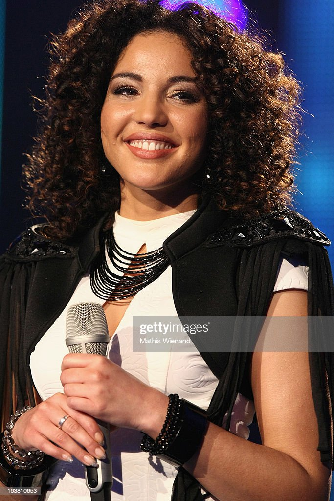 Nora Ferjani attends the Rehearsal of 1st DSDS Show at Coloneum on March 16, 2013 in Cologne, Germany.