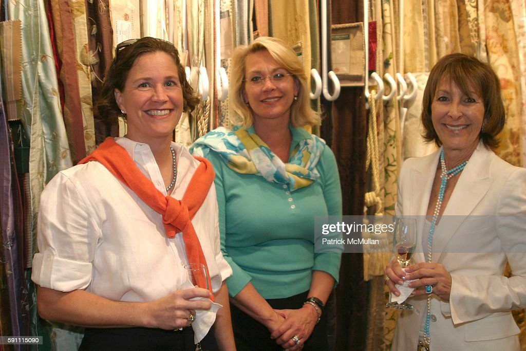 Nora Gugel J B Wall and Maralyn Lazarus attend Ann Getty Michael Leondas Kirkland and John Nelson celebrate the arrival of Ann Getty House Collection...