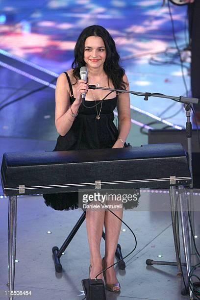 Nora Jones during 57th San Remo Music Festival Inaugural Evening at Teatro Ariston in Sanremo Italy