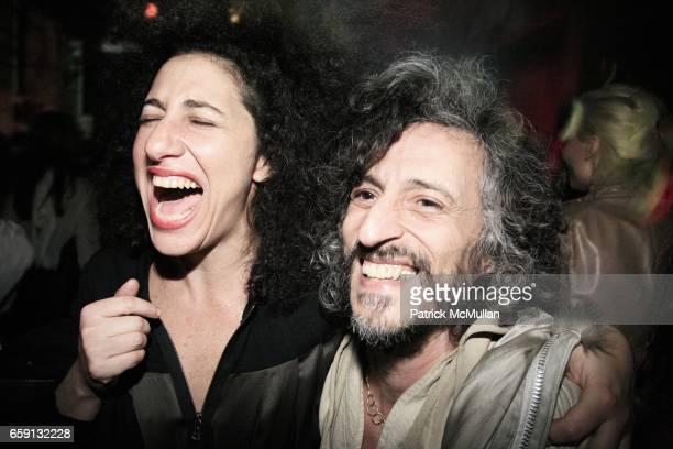 Nora Mitrani and Gabi attend RADAR ENTERTAINMENT THE LAST MAGAZINE Toast Fashion Week at Studio 385 Broadway on February 20 2009 in New York City