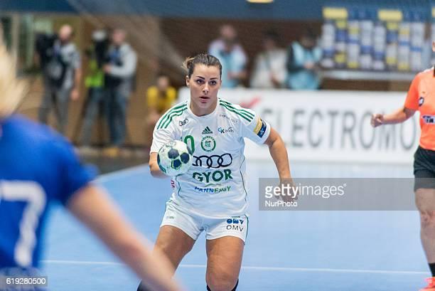 Nora Mork of Gyori Audi ETO KC during the EHF Women's Champions League 20162017 game between FC CSM Bucharest ROU and Gyori Audi ETO KC at Polyvalent...