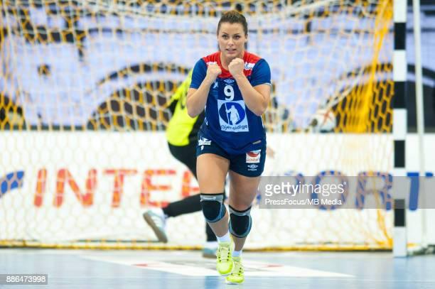 Nora Mork of Norway during IHF Women's Handball World Championship group match between Poland and Norway on December 05 2017 in BietigheimBissingen...