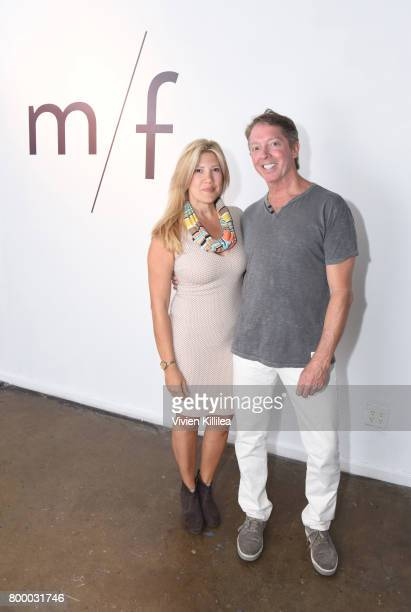 Nora Novak and T Hale Boggs attend m/f people Celebrates Launch in LA with Cocktail Party on June 22 2017 in Los Angeles California