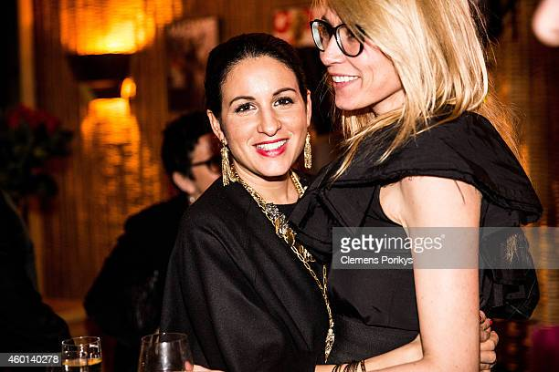 Nora Rochlitzer and Minu BaratiFischer attend the 40th birthday party of Franziska Knuppe on December 06 2014 in Berlin Germany