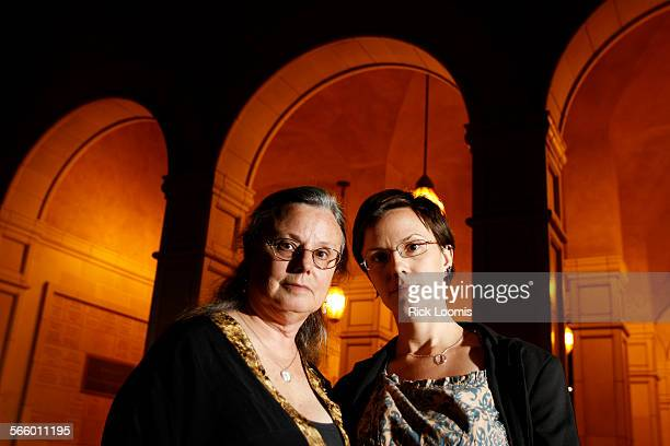 Nora Shourd and her daughter Sara Shourd at the University of Southern California before a screening of 'Free Shane and Josh An Urgent Plea for...