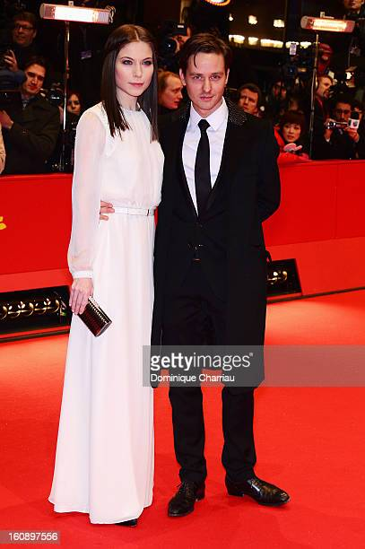 Nora von Waldstaetten and Tom Schilling attend 'The Grandmaster' Premiere during the 63rd Berlinale International Film Festival at Berlinale Palast...