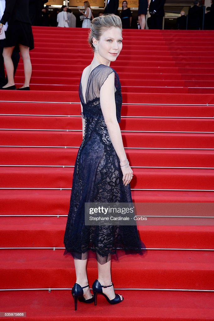 Nora von Waldstaetten at the 'Clouds Of Sils Maria' Premiere at the 67th Annual Cannes Film Festival