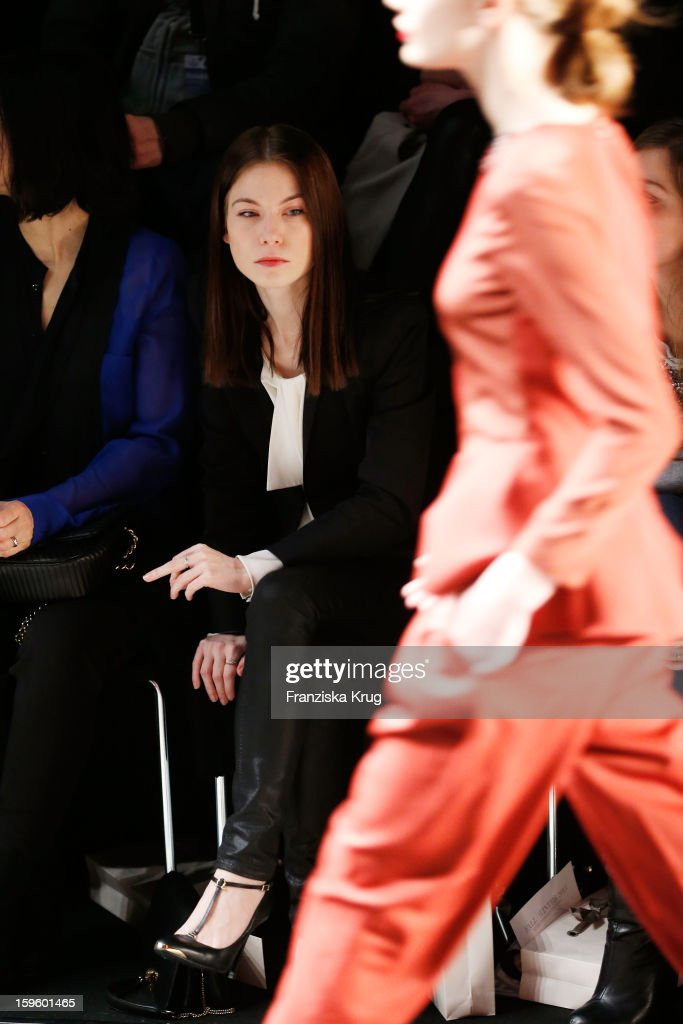 Nora von Waldstaetten attends Schumacher Autumn/Winter 2013/14 Fashion Show during Mercedes-Benz Fashion Week Berlin at Brandenburg Gate on January 17, 2013 in Berlin, Germany. on January 17, 2013 in Berlin, Germany.