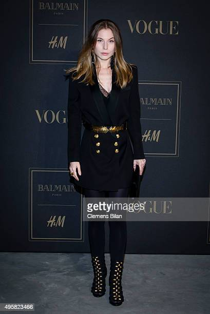 Nora von Waldstaetten attends the BALMAIN x HM Berlin Launch Party on November 4 2015 in Berlin Germany