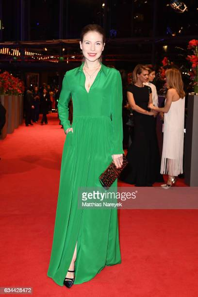 Nora von Waldstaetten attends the 'Django' premiere during the 67th Berlinale International Film Festival Berlin at Berlinale Palace on February 9...