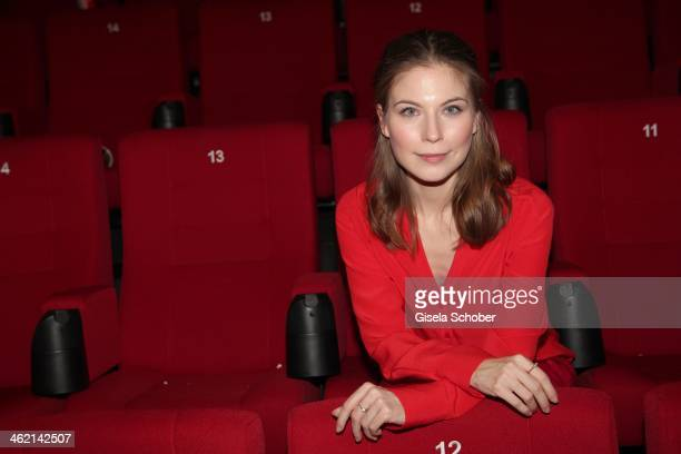 MUNICH GERMANY JANUARY Nora von Waldstaetten attends the premiere of the film 'Fuenf Freunde 3' at Cinemaxx on January 12 2014 in Munich Germany