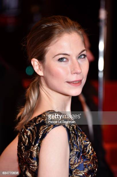 Nora von Waldstaetten attends the 'Wild Mouse' premiere during the 67th Berlinale International Film Festival Berlin at Berlinale Palace on February...